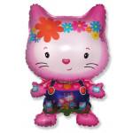 Шар (29''/74 см) Фигура, Маленький дружелюбный котенок, Фуше, 1 шт.